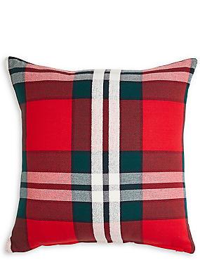 Oversized Check Cushion, , catlanding