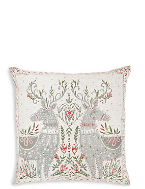 Mirrored Reindeer Cushion