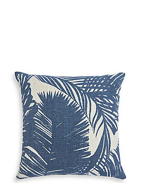 Palm Print Outdoor Water Resistant Cushion