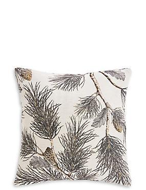 Pine Jacquard Cushion, GREY MIX, catlanding