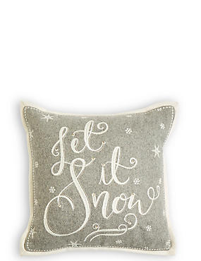 Let It Snow Light-up Cushion
