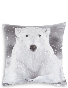 Polar Bear Cushion, , catlanding