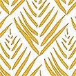 Willow Leaf Print Cushion, OCHRE, swatch