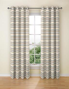 Geo Chenille Curtains, OCHRE, catlanding