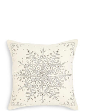 Snowflake Light Up Cushion