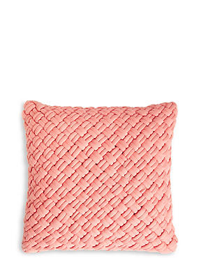 Jersey Weave Cushion, CORAL, catlanding
