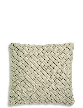 Jersey Weave Cushion, BEIGE MARL, catlanding