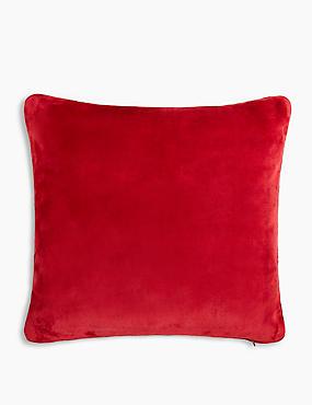 Fleece Cushion, MEDIUM RED, catlanding