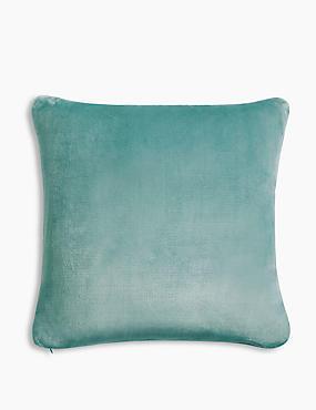 Fleece Cushion, DUCK EGG, catlanding