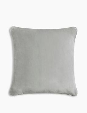 Fleece Cushion, LIGHT GREY, catlanding