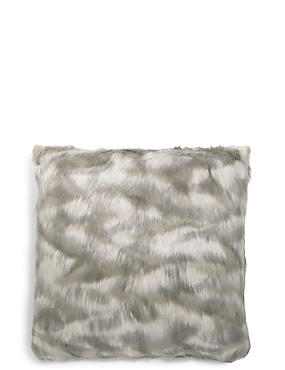 Abstract Faux Fur Cushion