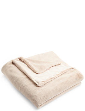 Soft Faux Fur Medium Throw