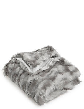 Abstract Faux Fur Throw Small, , catlanding