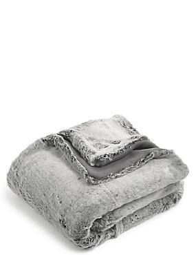 Faux Fur Throw Small, , catlanding