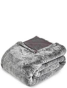 Faux Fur Throw Large, , catlanding