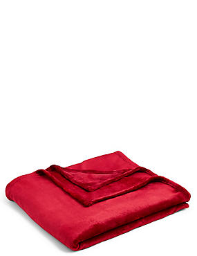 Soft Fleece Throw, MEDIUM RED, catlanding
