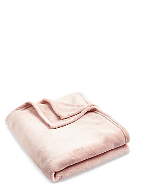 Soft Fleece Throw, SOFT PINK, catlanding