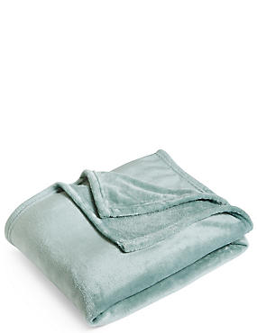 Soft Fleece Throw, DUCK EGG, catlanding
