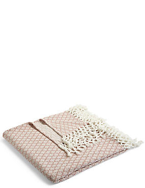 Elsie Tassel Throw, PINK MIX, catlanding