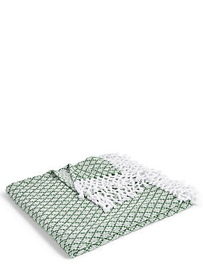 Elsie Tassel Throw, SAGE GREEN, catlanding