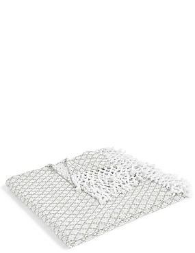 Elsie Tassel Throw, LIGHT GREY, catlanding