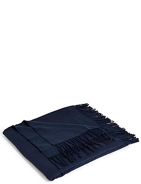 Supersoft Throw, NAVY, catlanding