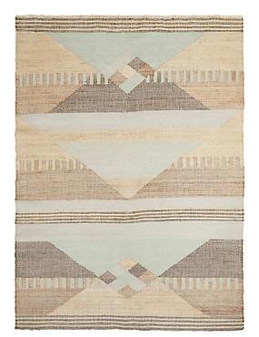 Modern Geometrical Print Rug, MULTI, catlanding