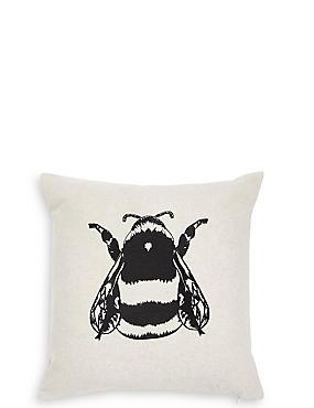 Simple Bee Cushion, , catlanding