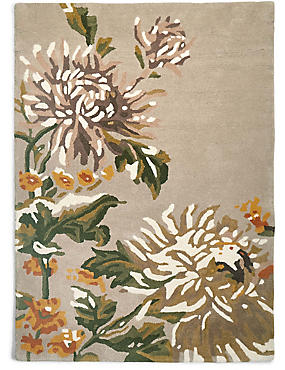 Pure Wool Painterly Floral Rug