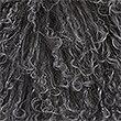 Pure Wool Mongolian Cushion, CHARCOAL, swatch