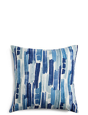 Abstract Striped Cushion, BLUE MIX, catlanding