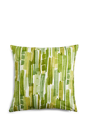 Abstract Striped Cushion, GREEN MIX, catlanding