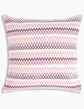 Geo Chenille Cushion, PINK MIX, catlanding