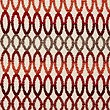 Geo Chenille Cushion, RED MIX, swatch
