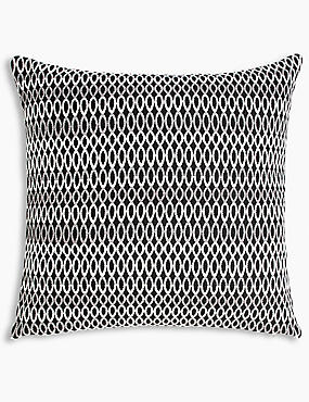 Geo Chenille Cushion, CHARCOAL MIX, catlanding
