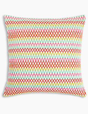 Geo Chenille Cushion, MULTI, catlanding