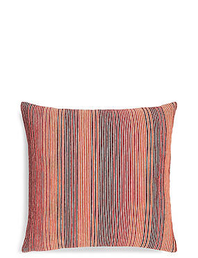 Stripe Cushion, RED MIX, catlanding