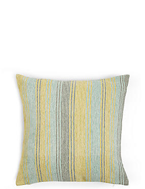 Stripe Cushion, GREEN MIX, catlanding