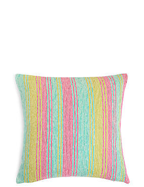 Stripe Cushion, MULTI, catlanding