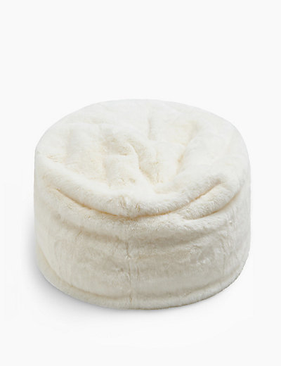 Astonishing Lycus Faux Fur Bean Bag Mount Mercy University Machost Co Dining Chair Design Ideas Machostcouk