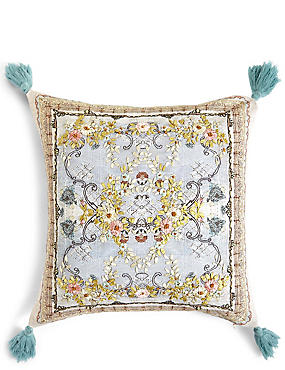 Lace Embroidered Cushion