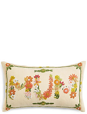Mum Floral Print Cushion