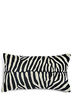 Zebra Crewel Work Cushion