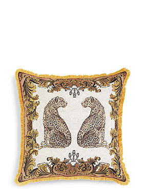 Leopards Embroidered Cushion