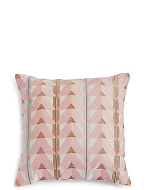 Triangle Embroidered Cushion
