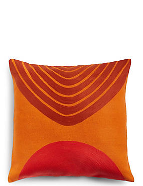 Conran Crewel Circles Embroidered Cushion