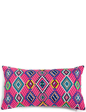 Diamond Embroidered Cushion