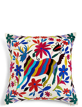 Otomi Embroidered Cushion