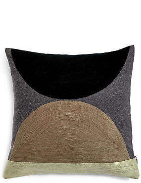 Wool Blend Conran Crewel Circles Cushion