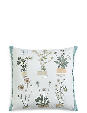 Pressed Floral Print Cushion